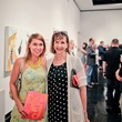 Lawndale Art Center The Big Show VIP reception July 2013 Kia Neill and Victoria Lightman