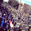 MLK Grande Parade in Midtown marching band January 2014