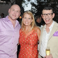 Brad Brandt, from left, Alice Oehmig and Joel Quinones at the Q The Salon Moroccan theme party September 2013