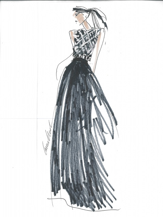Designers' sketches fall 2014 collections Carmen Marc Valvo