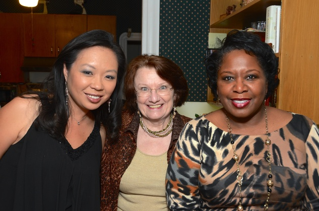 3 Miya Shay, from left, Kathy Hubbard and Mary Benton at Cindy Clifford's birthday bash November 2014