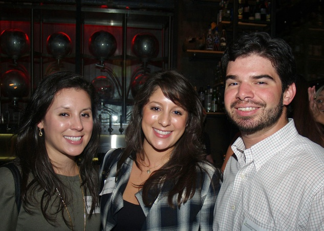 7 Meredith Chavez, from left, Madyson Chavez and Cesar Giralt at the Preservation Houston Young Professionals party November 2013