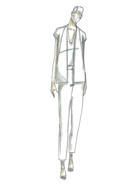 Fashion Week spring 2015 sketch Sept. 2014 TSE