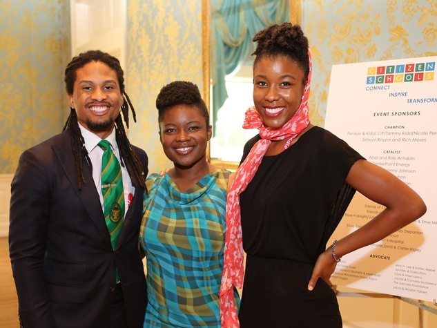 17 Malcolm Morse, from left, Andrea Fatoma and Asha Edwards at the Citizen Schools luncheon