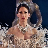 Houston Ballet Mireille Hassenboehler in The Merry Widow choreographed by Ronald Hynd