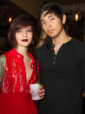 FashionXAustin Austin Fashion Week Kickoff 2015 at Speakeasy Gabriela Mago Jessie Rojas