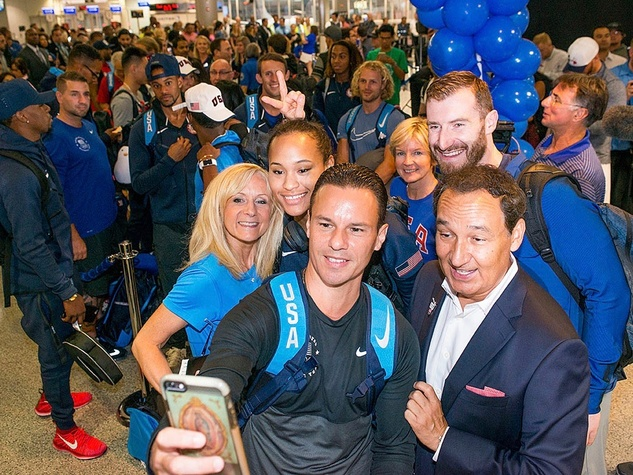 United Airlines sendoff for Olympic athletes to Rio