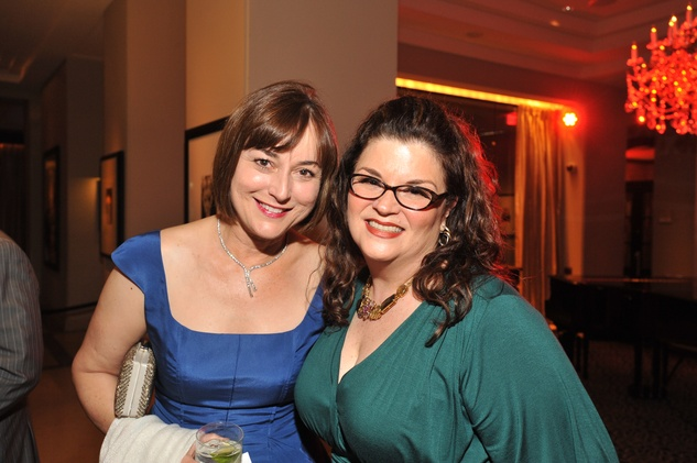 Leigh Smith, left, and Kate Ostrow-Yadan at the Houston Arts Alliance event with Rita Moreno May 2014