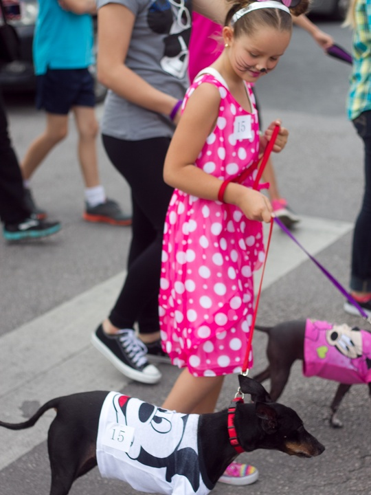 Easter Pet Parade on South Congress 2014 Minnie Mouse Mickey Mouse