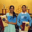 Shobha Dasari and Syamantak Payra at Houston Public Media Spelling Bee