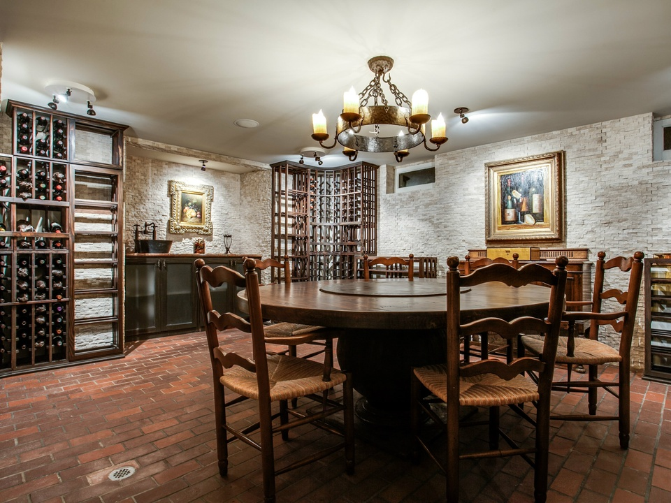 Wine room at 3521 Beverly Dr. in Dallas