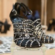 11 Strappy black shoes with rhinestones at Joyce Echols Shoes Preview March 2015