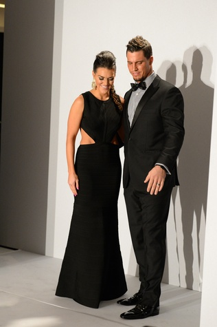 Megan and Brian Cushing at the Tootsies Love's in Fashion event February 2015