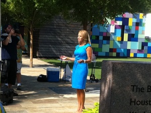 Katie Couric, Houston, Discovery Green, August 2012