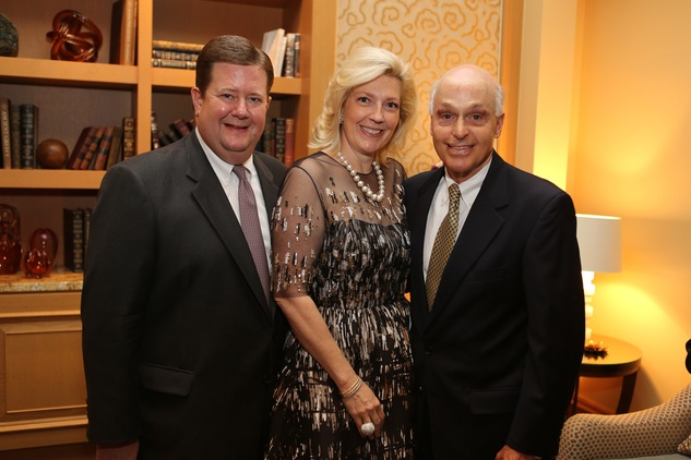 Jeff and Kathryn Smith, from left, and Howard Tellepsen at the Bud Frazier event May 2014 at the Bud Frazier event May 2014