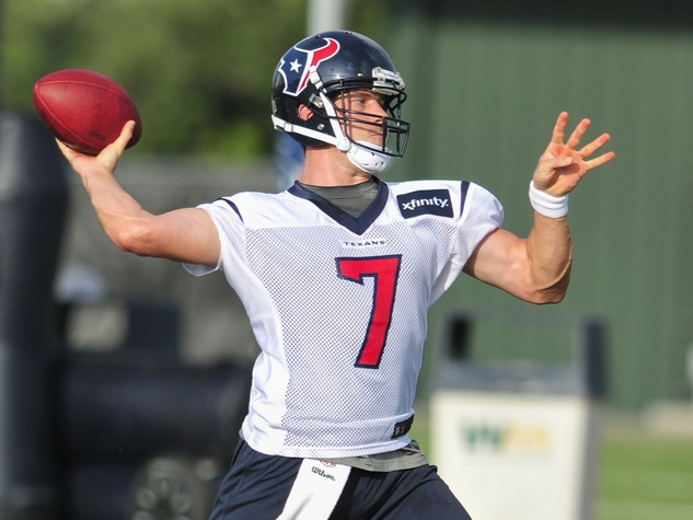 Case Keenum throwing Texans camp