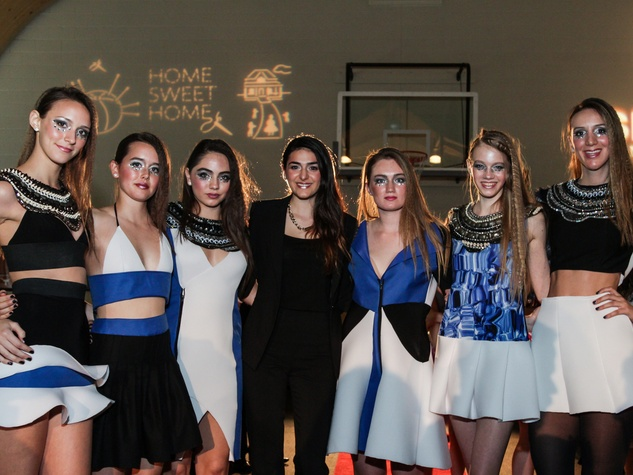 Emily Micheals and  her models at the SEARCH fashion event March 2014