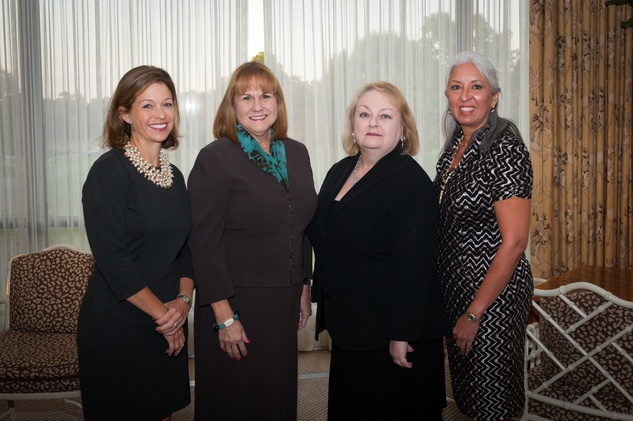 5 Ashley Short-Grigsby, from left, Kathryn King-Coleman, Kathy Elek and Olga Moya at the Scenic Houston Annual Dinner November 2014