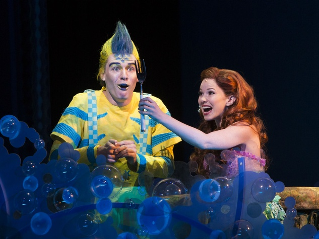 Adam Garst and Alison Woods in The Little Mermaid