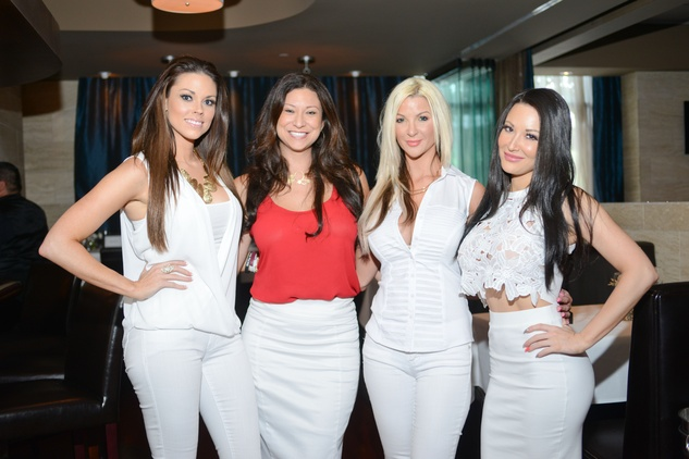 85 Amanda Abiassi, from left, Mandy Lara, Kristin Bingham and Stephanie Ruata at the White Hot Summer Night Party at Eddie V's August 2014