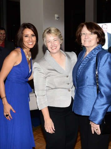 Alejandra Rutledge, from left, Mayor Annise Parker and Kathy Hubbard at Alex Martinez's birthday party July 2014