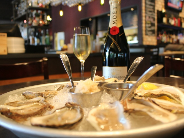oysters and champagne