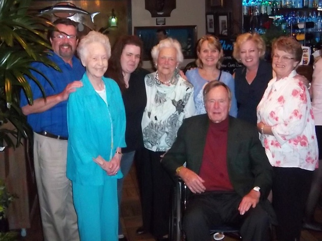 Christie's Seafood & Steaks Restaurant Barbara Bush and George H.W. Bush April 2012