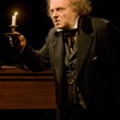 family holiday shows, November 2012, Jay Sullivan as Fred and Jeffrey Bean as Ebenezer Scrooge in the Alley Theatre's A Christmas Carol – A Ghost Story of Christmas