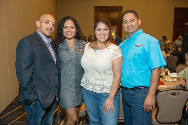 Rafael Holasel, Maria Holasel, Rubie Huerta, George Huerta at HEB Primo Picks party