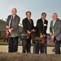 Steve Head, Farouk Shami, Basim Shami, Richard Carpenter,Chi School Cosmetology, November 2012, ground breaking, officials