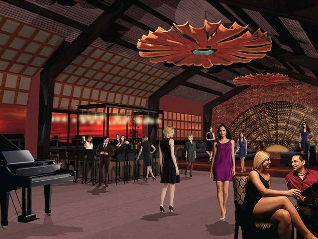 De Gaulle bar interior rendering