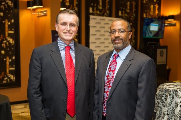 Dr. Dirk Van Teurenhout , left, and Dr. Melvyn Harrington at the Arthritis Foundation Award party May 2014