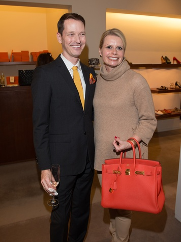 NAME TK and Valerie Dieterich at Kermit Oliver at Hermès February 2014