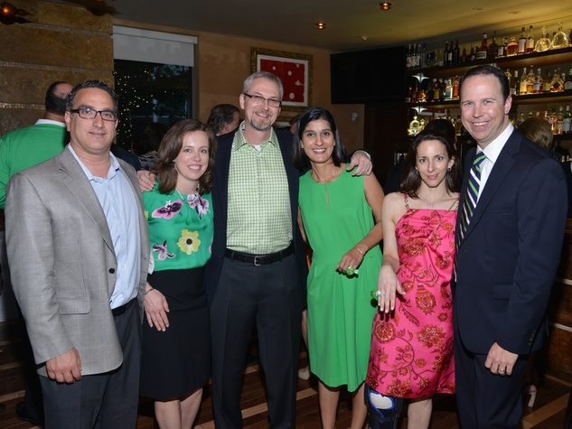 2S John and Martha Kiani, from left, Dennis and Vicki Price and Jennifer and Michael Mineo at the Emerald City ESCAPE Celebrity Serve Benefit April 2014