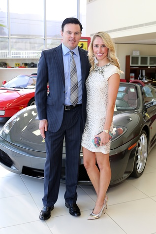 Adam Michael and Ashley Seippel at the Joints in Action at Ferrari of Houston June 2014