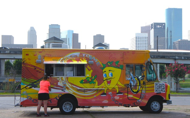 Houston Food Park grand opening Pocket to Me pita truck