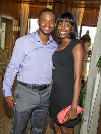 Astros Wives underwriter dinner, June 2012, Wesley Wright, Sherrell Wright