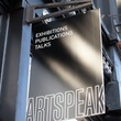 Houston Fine Art Fair September 2014 ArtSpeak studio sign
