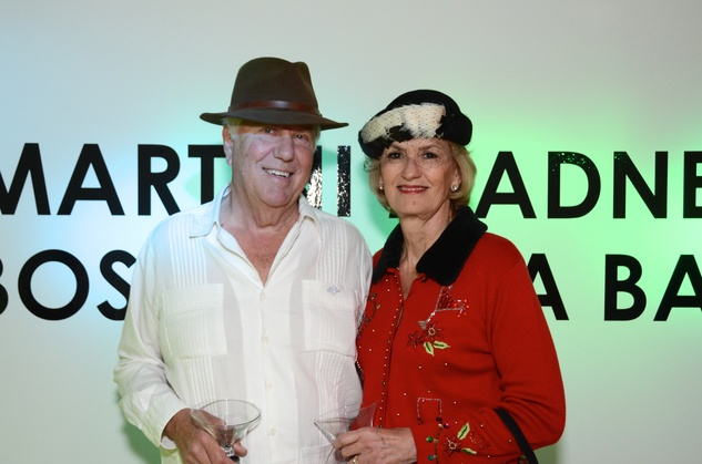 123 Ted Pinson and Paula Arnold at the Craft Museum Martini Madness party January 2015