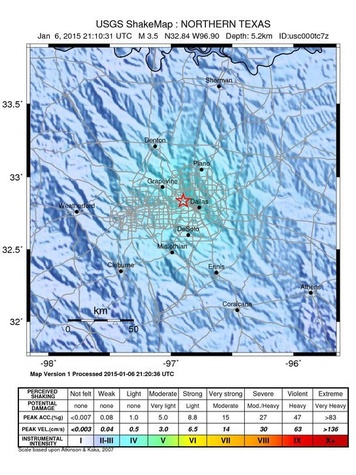 Earthquake registered 1-6-15