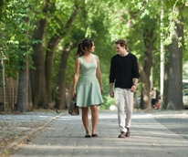Berenice Marlohe and Anton Yelchin in 5 to 7