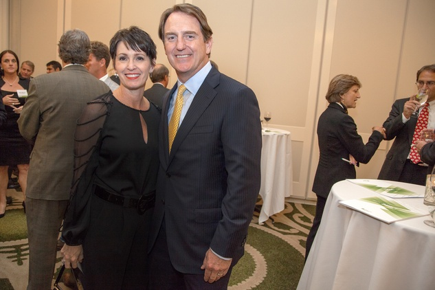 41 Julie Peak and Michael Cox Sr. at the Urban Land Institute Houston mixer October 2014