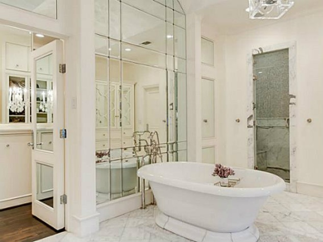 Bathroom in Brenden Morrow's home in Dallas