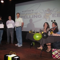 Austin Photo Set: News_Mike_adult spelling bee_march 2012_stage