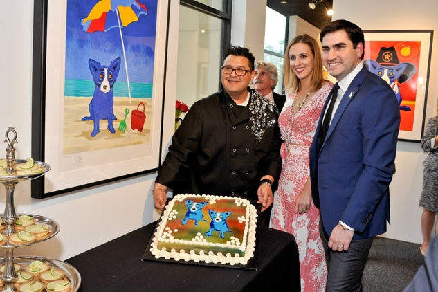Blue Dog West Ave event April 2015 Rodrigue