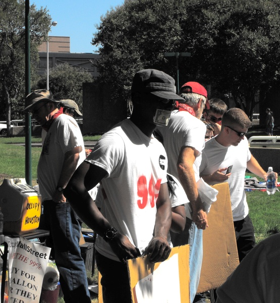 Occupy_Houston_Silent_Protest_Organizing_Signs