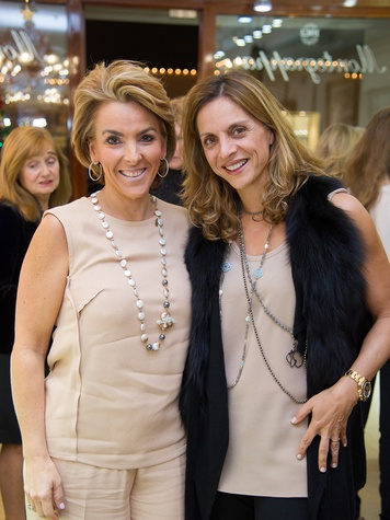 22 Mary Tere Perusquia, left, and Nini Bekhradi at the Mrs. B Jewelry Launch at Valobra November 2013