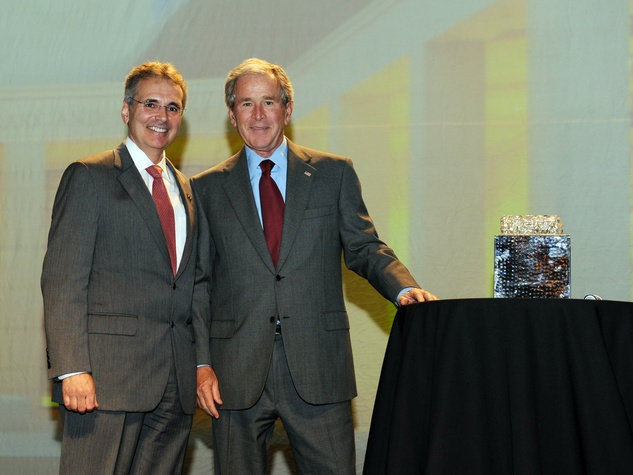 Ronald DePinho and George W. Bush at Living Legend Luncheon
