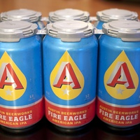 six pack of Austin Beerworks Fire Eagle American IPA