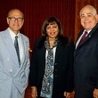 Robert Sakowitz, from left, Munira Panjwani and Dr. William Flores at the Aga Khan Foundation Emmisary awards reception September 2014